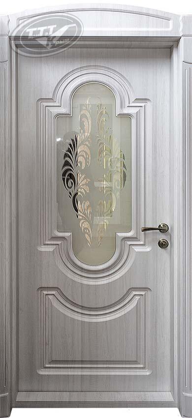 Межкомнатная дверь  со стеклом «Статус М1»