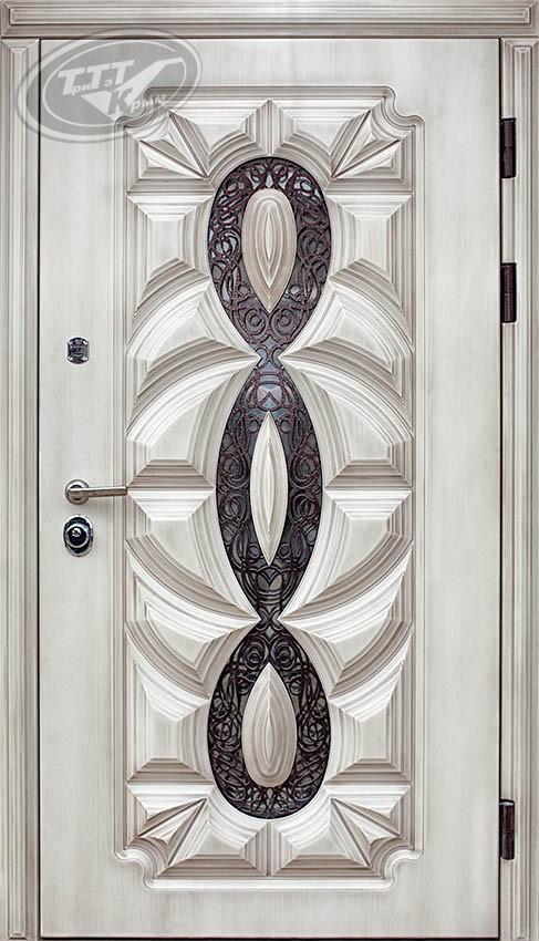 Дверь металлическая в дом «Оскар 3D Полиуретан»