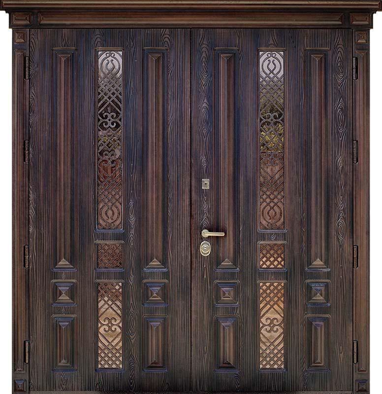 Двери распашные двустворчатые Легион 3D St Elit (2 створки 1/2)