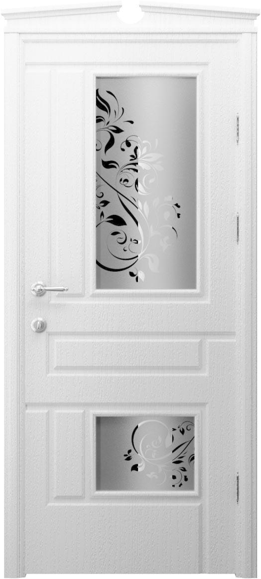 Межкомнатная дверь белая внешняя отделка