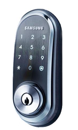 Врезной замок без ручки с цилиндрическим ригелем из стали Samsung SHP-DS510