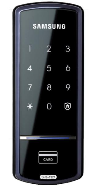 Электронный замок Samsung shs 1321 предназначен для входных и межкомнатных дверей
